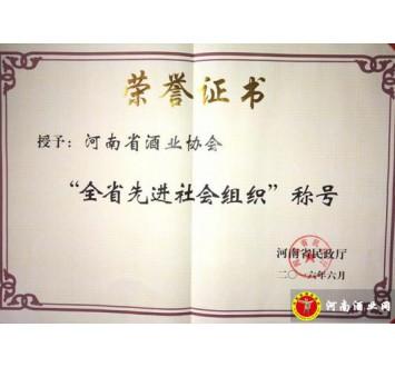 河南酒协荣获河南省先进社会组织称号